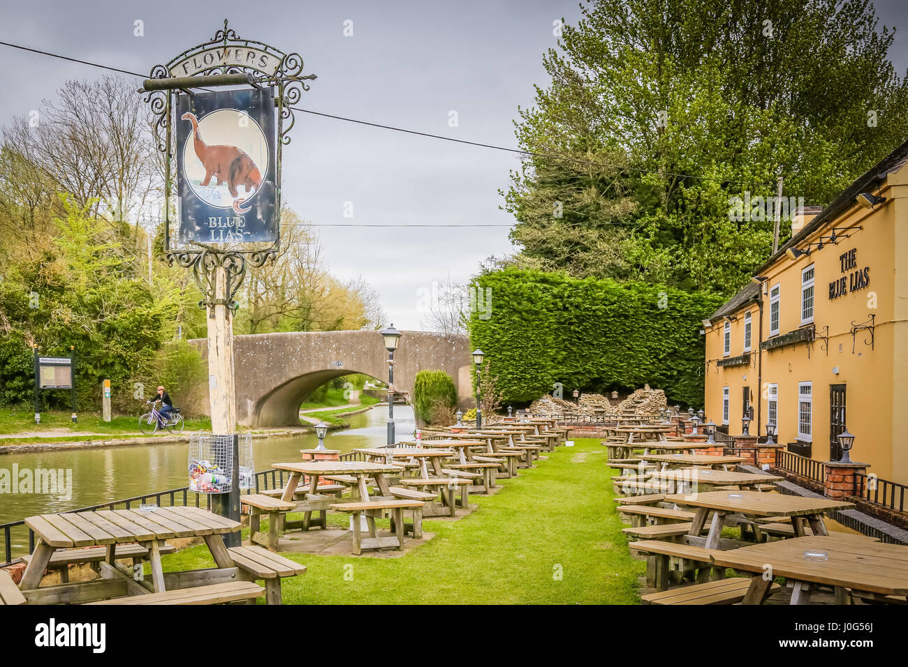The Blue Lias pub in Stockton,Warwickshire - Stock Image