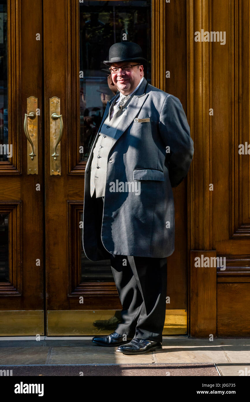 The Hotel Doorman At The Landmark London, Marylebone Road, London, England - Stock Image
