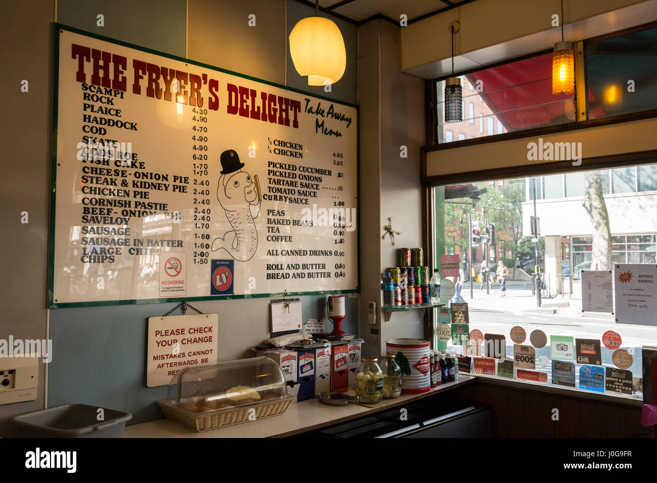 Interior Of The Fryer S Delight Fish And Chip Shop On Theobalds Rd Stock Photo Alamy