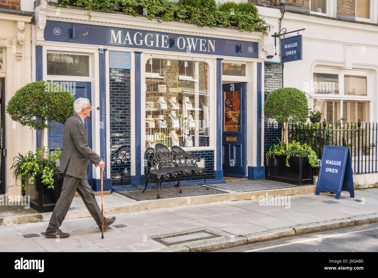 Maggie Owen an independent shop on Rugby Street in Bloomsbury, London, UK - Stock Image