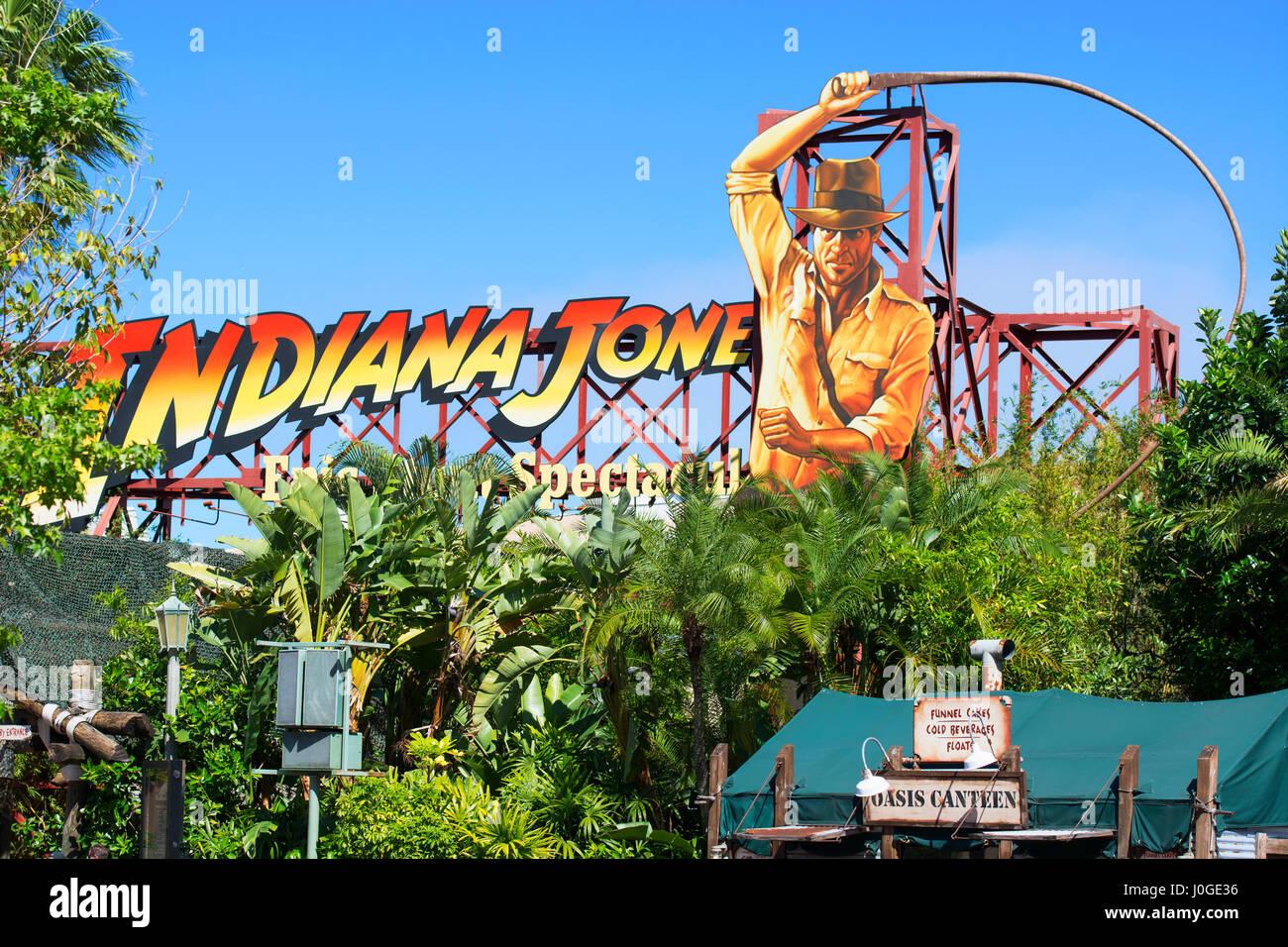 Indiana Jones Epic Stunt Spectacular, Hollywood Studios, Disney World, Orlando Florida - Stock Image