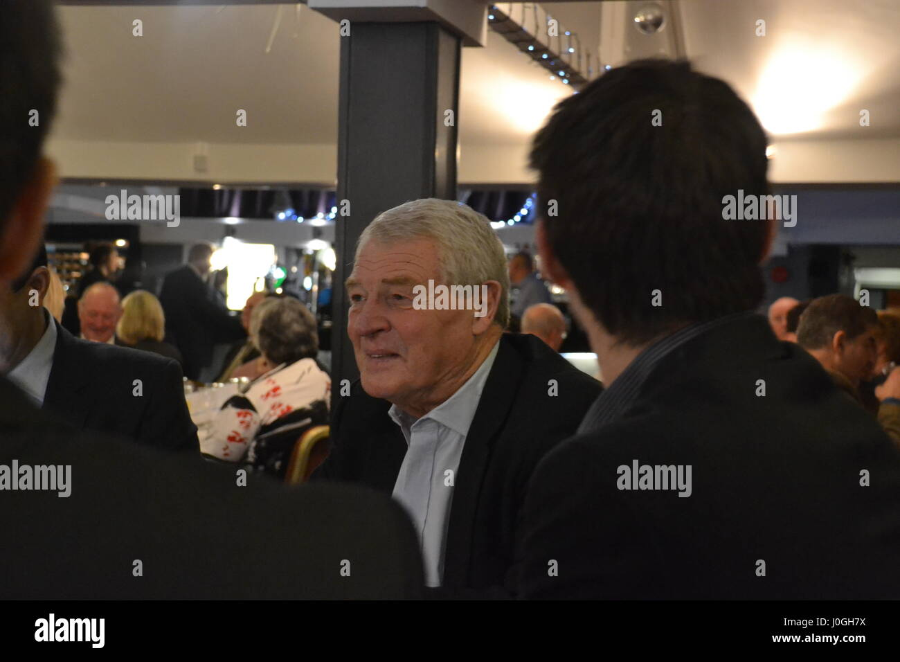 Lord Paddy Ashdown, former MP and leader of the Liberal Democrats supports John Leech's re-election campaign in Stock Photo