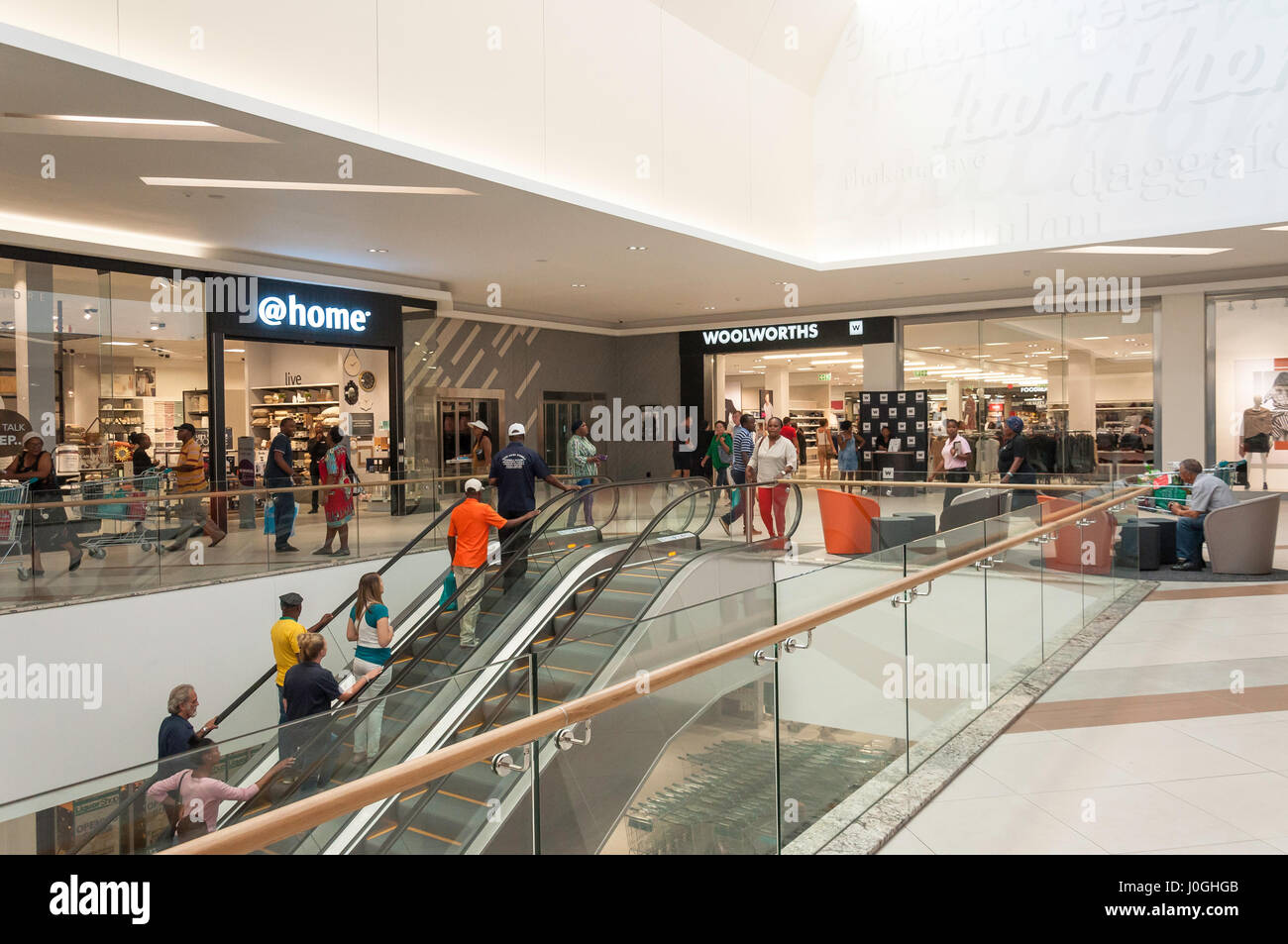 Interior of Springs Mall Shopping Centre, Casseldale, Springs, East Rand, Gauteng Province, Republic of South Africa - Stock Image