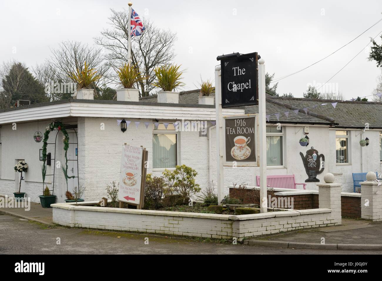 The Chapel tearoom in Dumfries and Galloway, Gretna Green, Scotland, UK - Stock Image