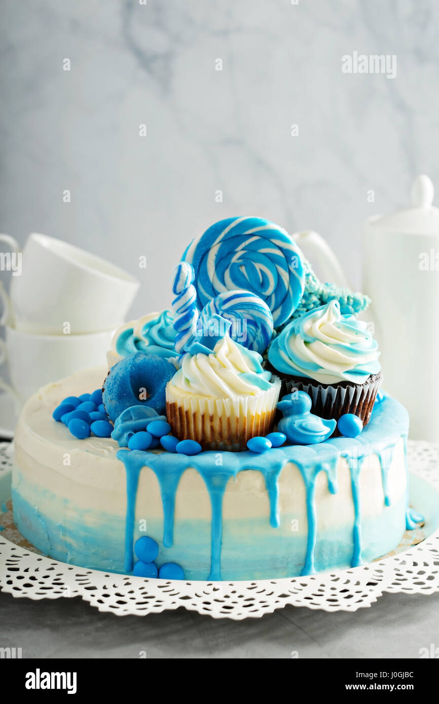 Baby Shower Or Boy Birthday Cake