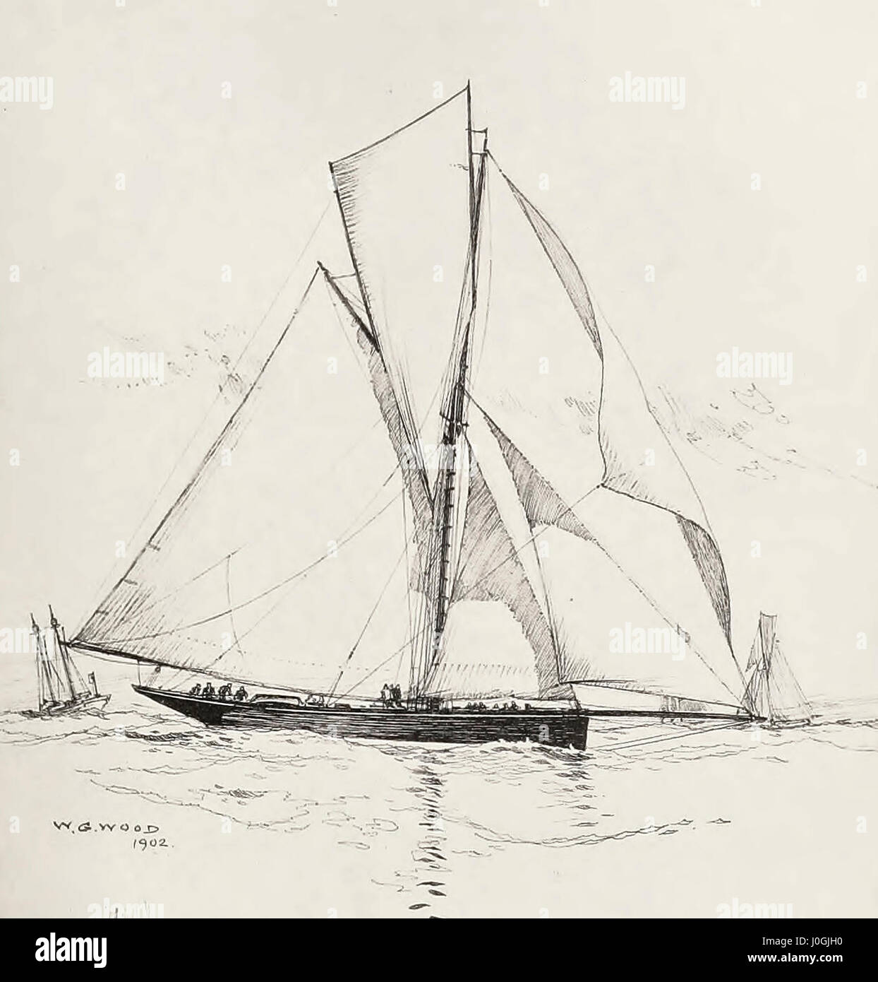 Genesta, Fifth Challenger for the America's Cup, 1885 - Stock Image