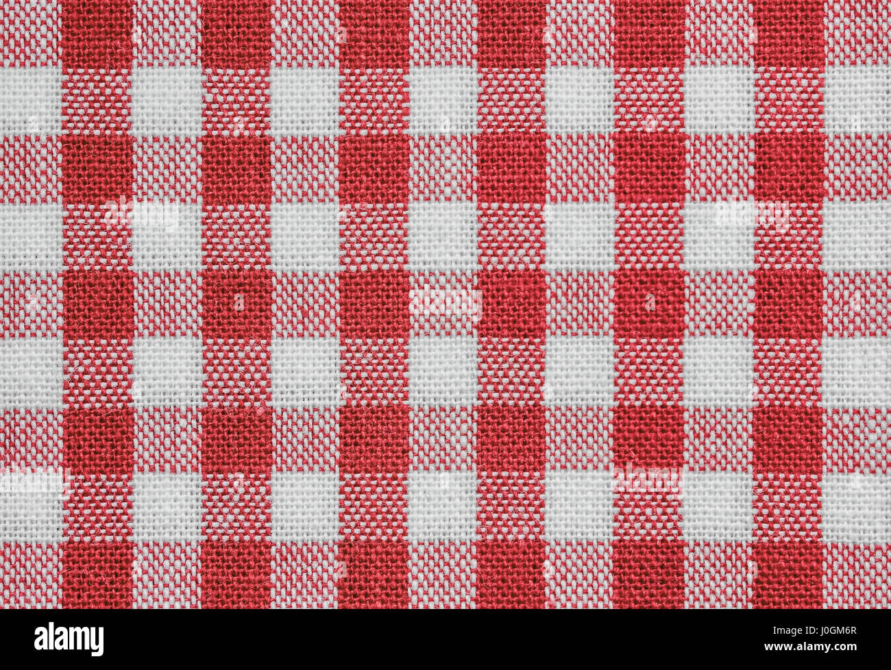 Background Of Red And White Checkered Tablecloth Fabric