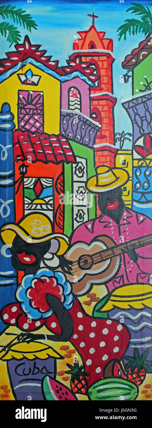 Colourful Cuban Art - Stock Image