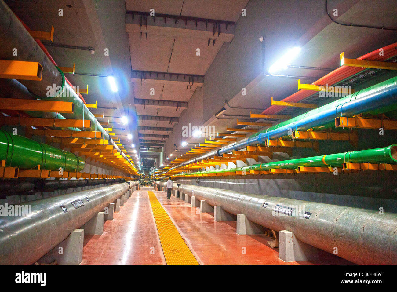 Gift City, Gujarat, India. 20th Mar, 2017. 20 March 2017 - GIFT city, India.An extensive Underground Utility Tunnel - Stock Image