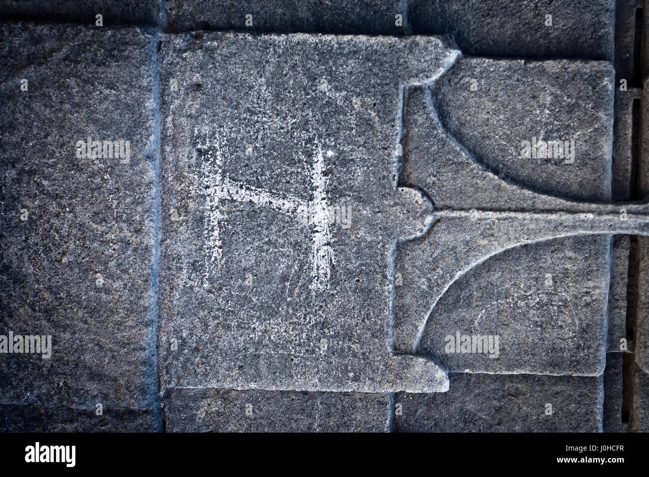 stone carving as a background & texture. - Stock Image