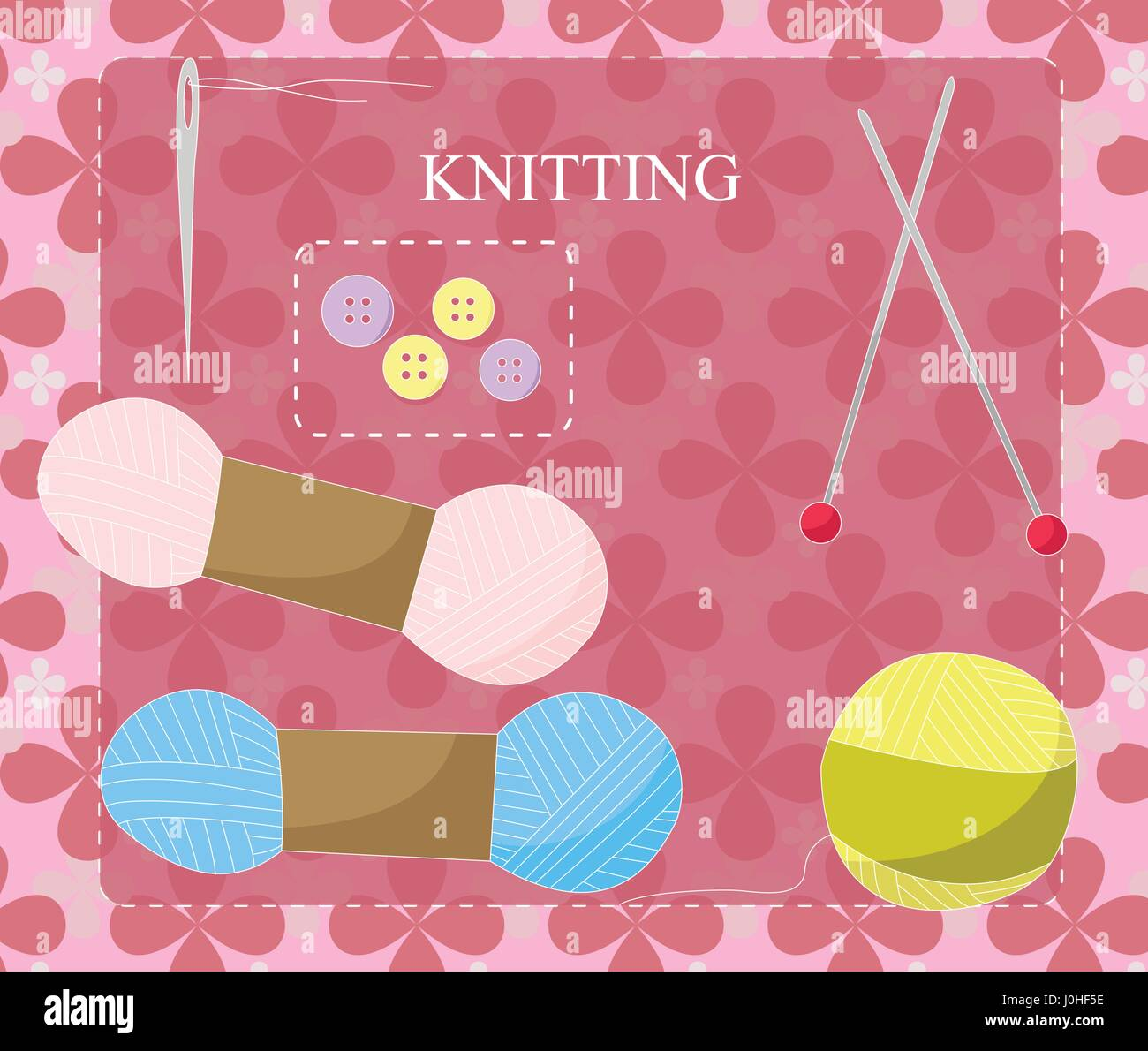 Knitting equipment icon - Stock Vector