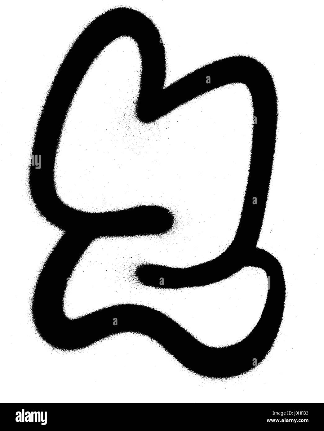 Graffiti bubble font z in black on white