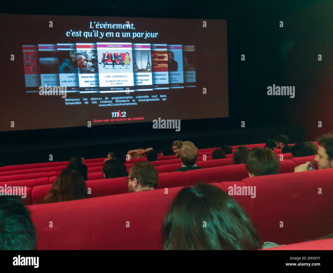 Paris, France, French Cinema, Interior, Movie Theater, MK10 Stock