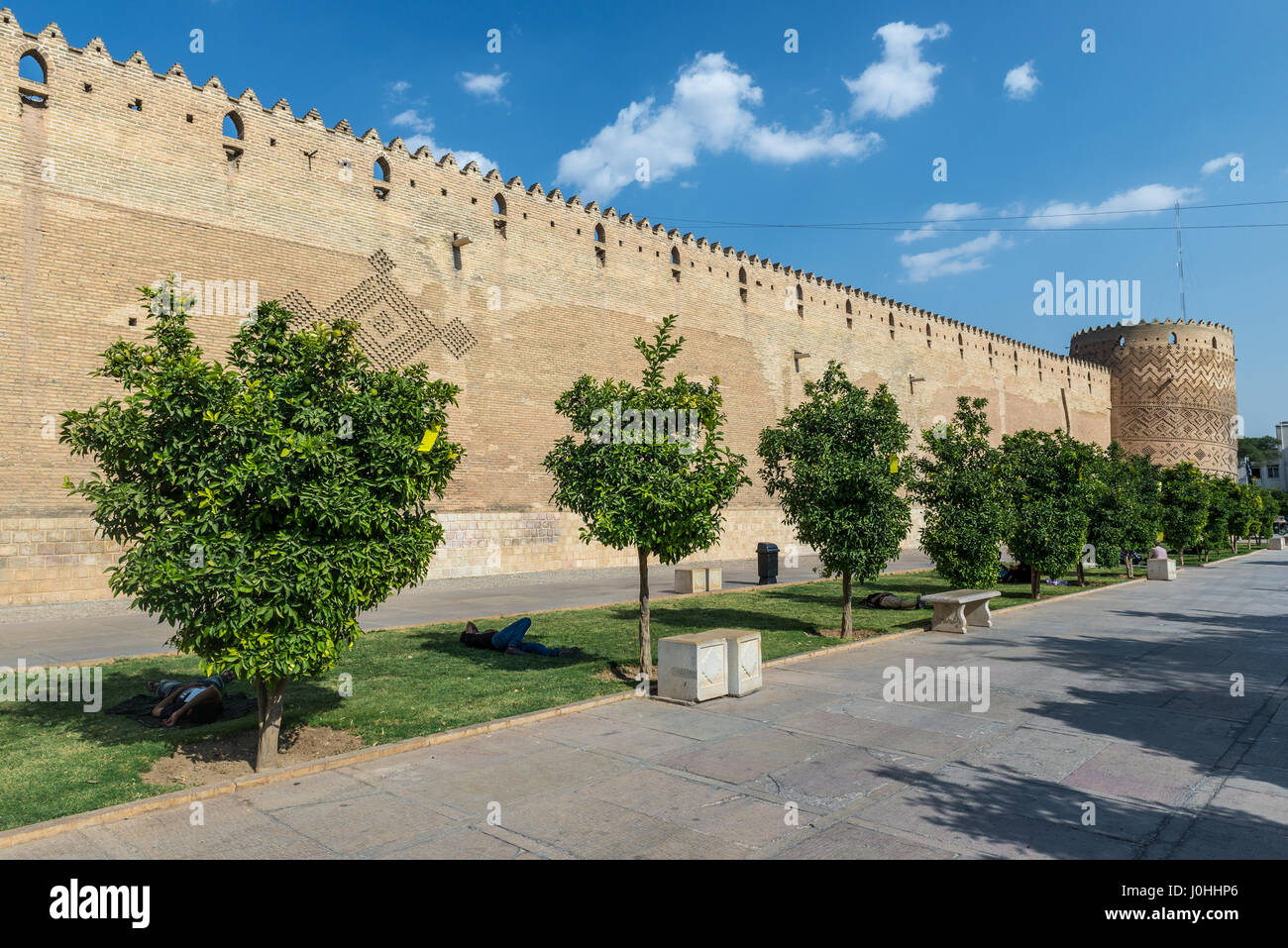 Castle of Karim Khan citadel (Arg-e Karim Khan) build during Zand dynasty in Shiraz city, capital of Fars Province - Stock Image