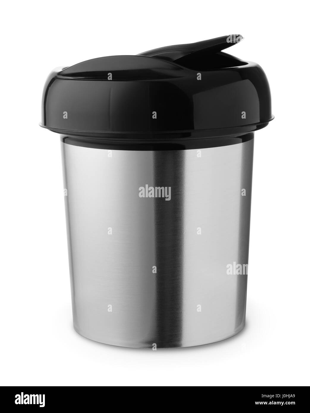 Table top trash can isolated on white - Stock Image