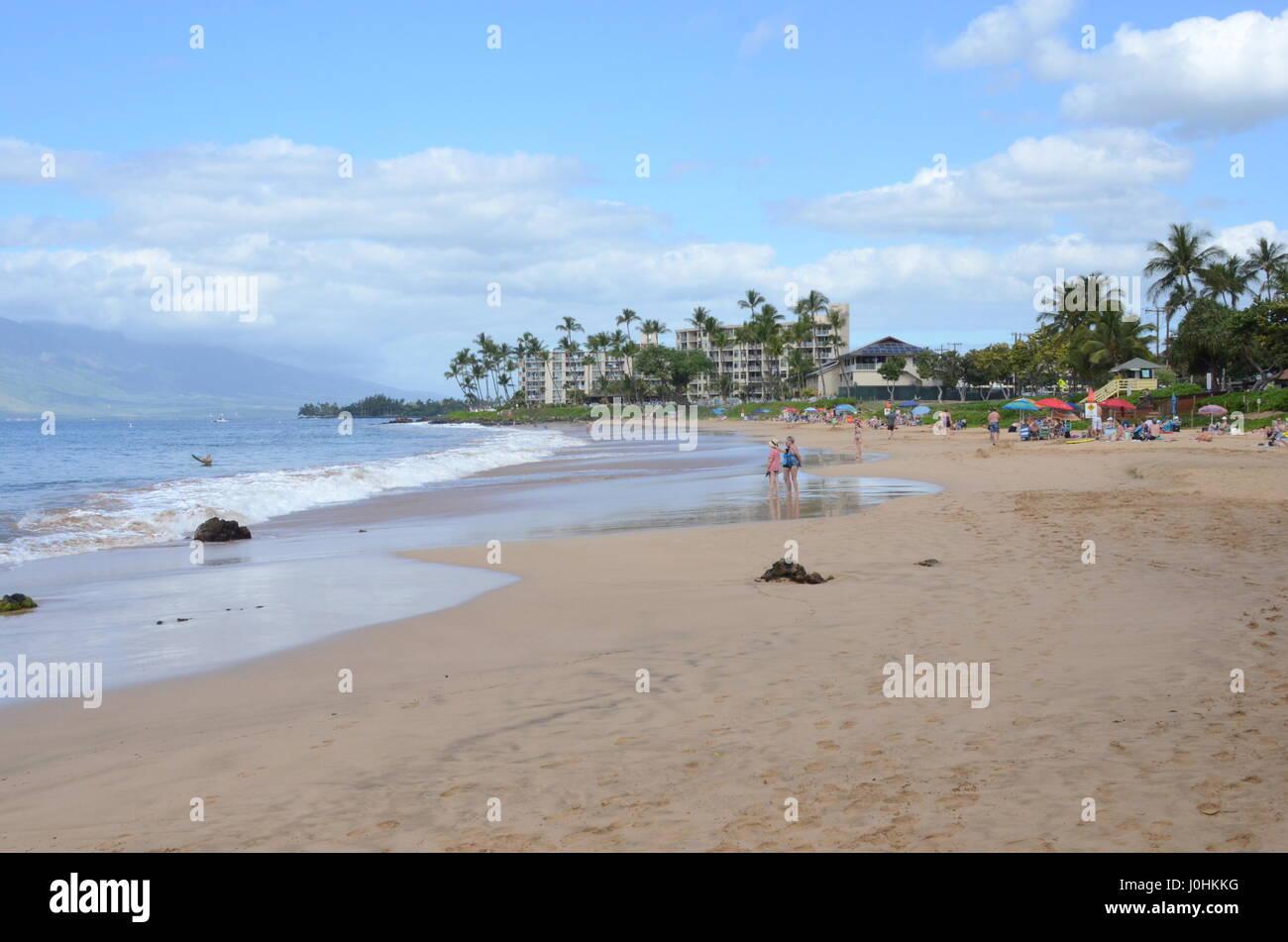 Beach in Maui, Hawaii, USA - Stock Image