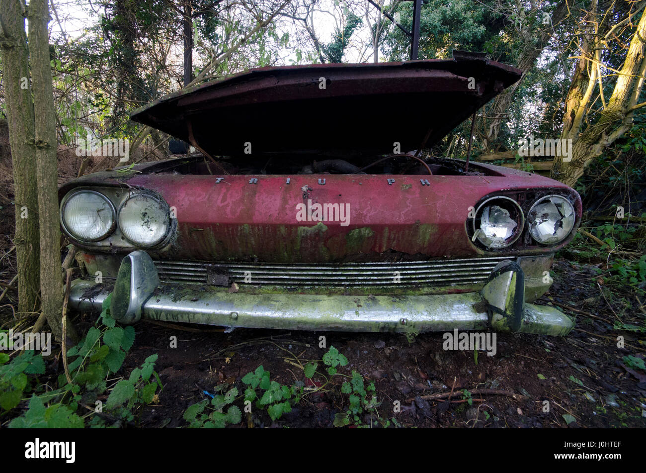Abandoned car - Stock Image