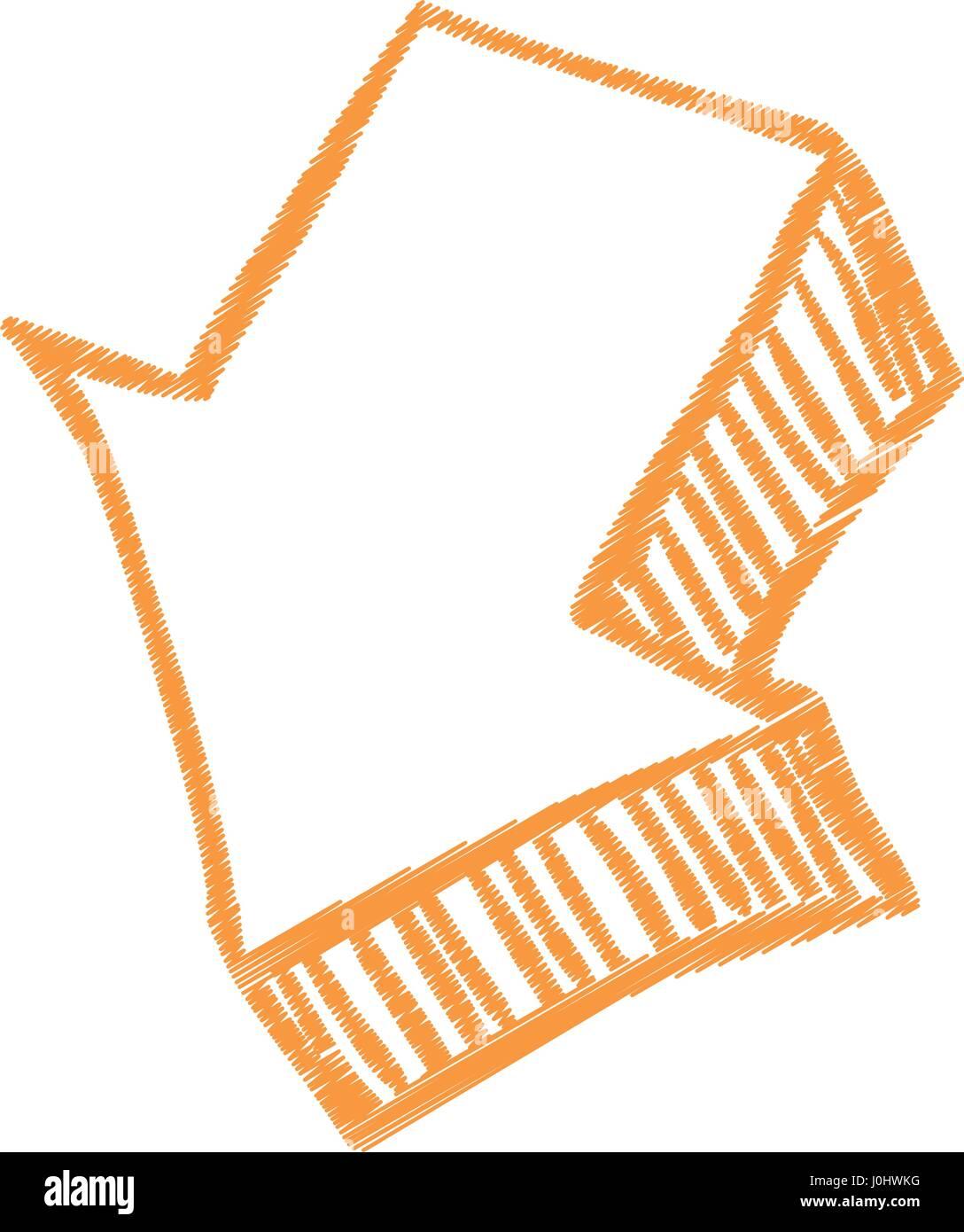 Download arrow scribble - Stock Image