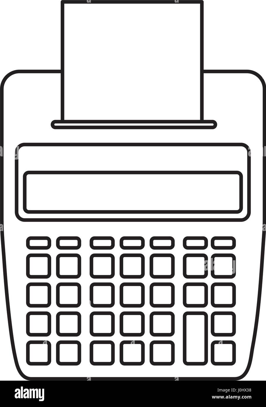 Calculator with paper printer stock vector art illustration calculator with paper printer ccuart Images