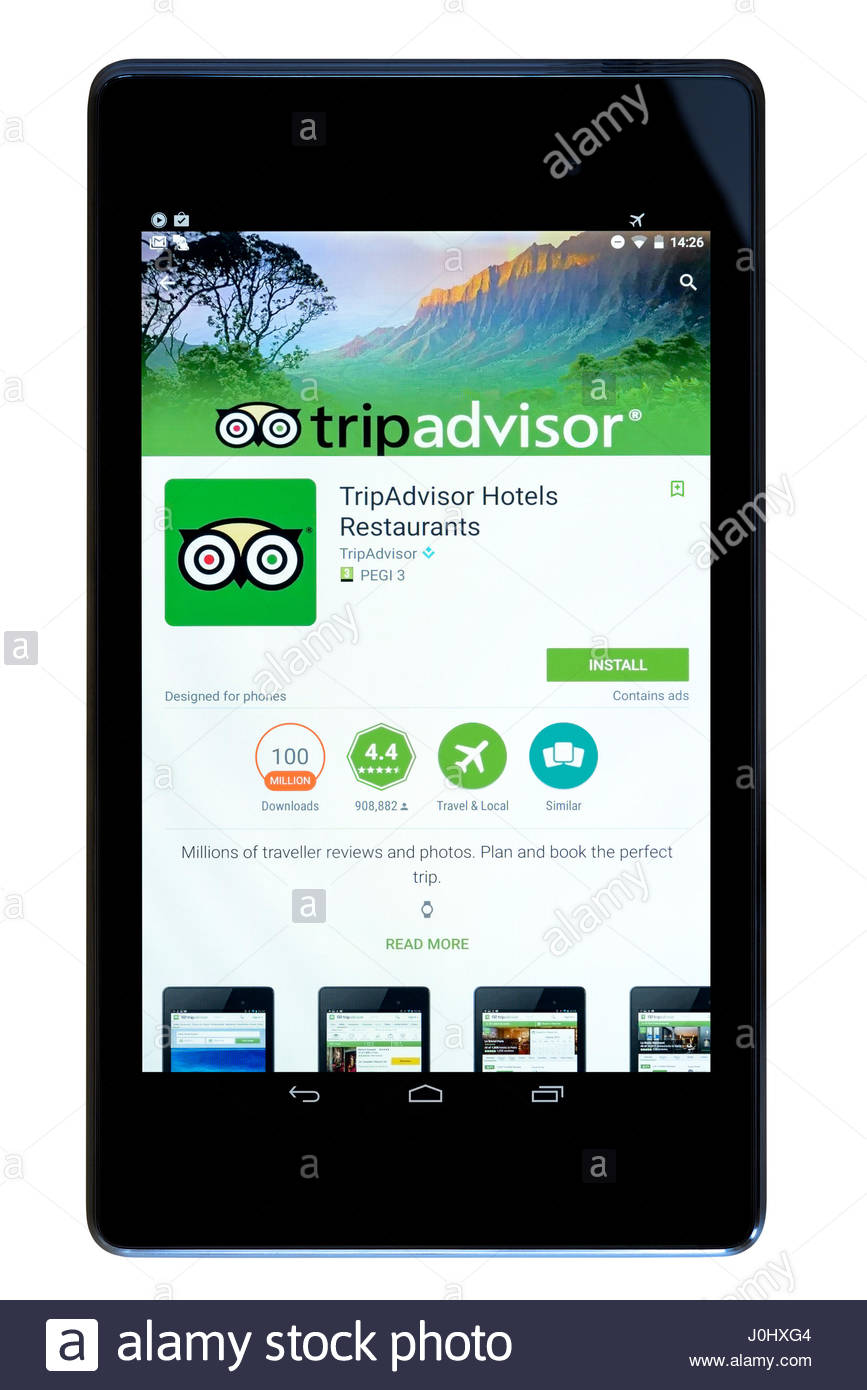 Fantastic Tripadvisor App On An Android Tablet Pc Dorset England Uk Download Free Architecture Designs Scobabritishbridgeorg