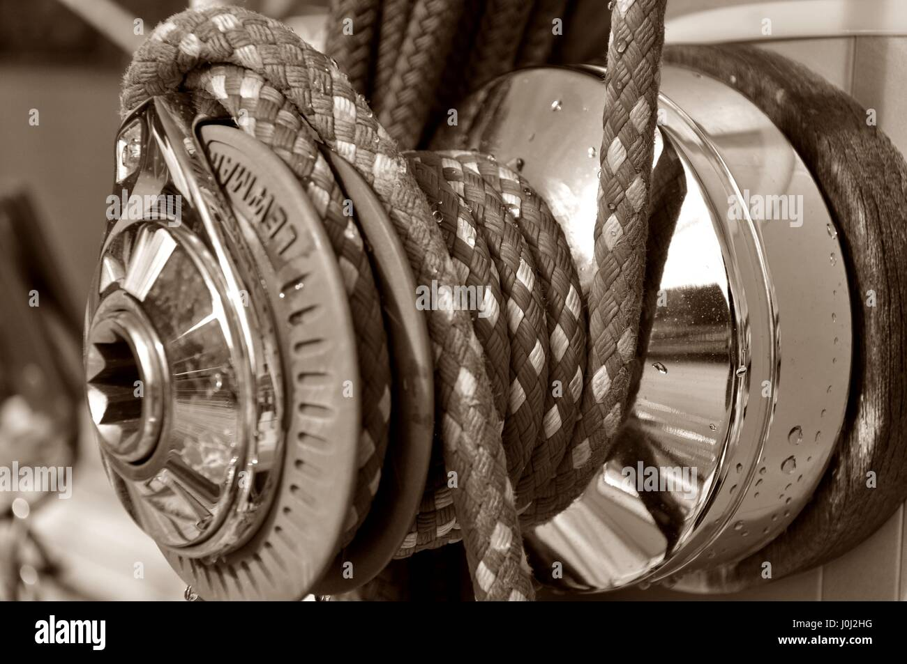 Main Halyard Winch - Stock Image