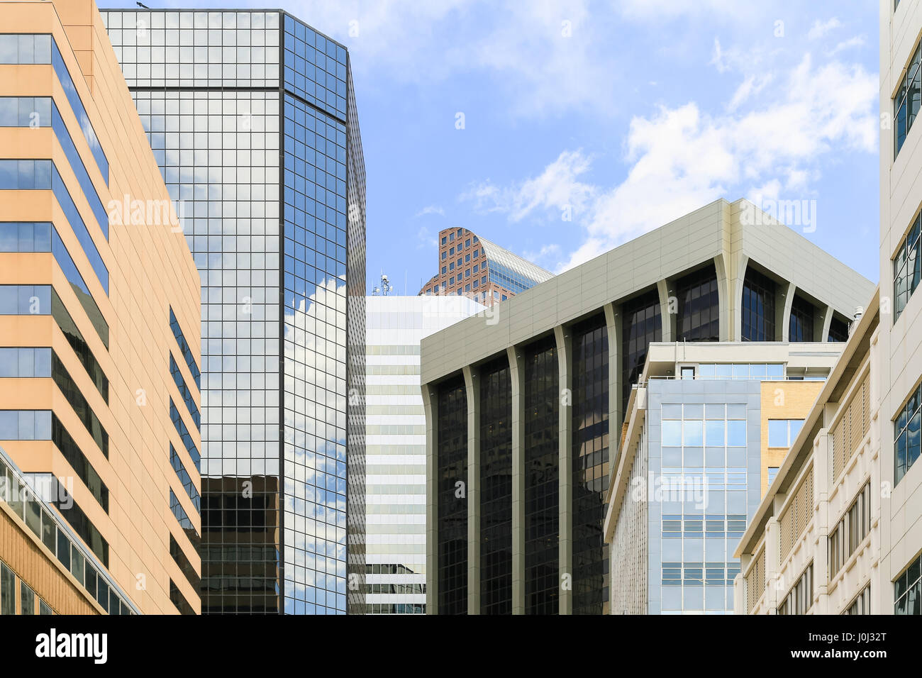 Denver, USA - May 25, 2016: Skyscrapers belonging to the World Trade Center office building complex. - Stock Image
