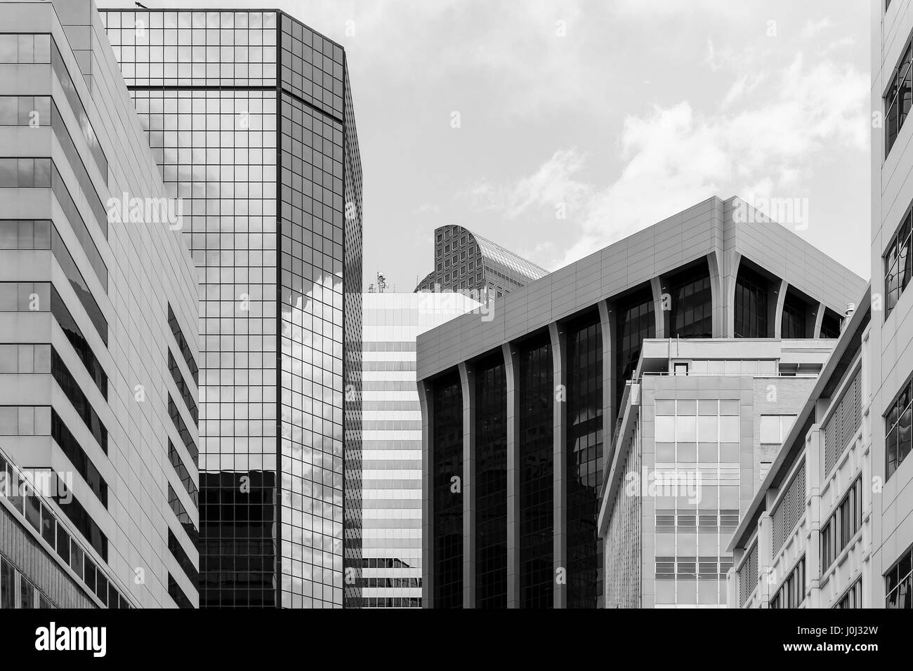 Denver, USA - May 25, 2016: Skyscrapers belonging to the World Trade Center office building complex. The picture - Stock Image