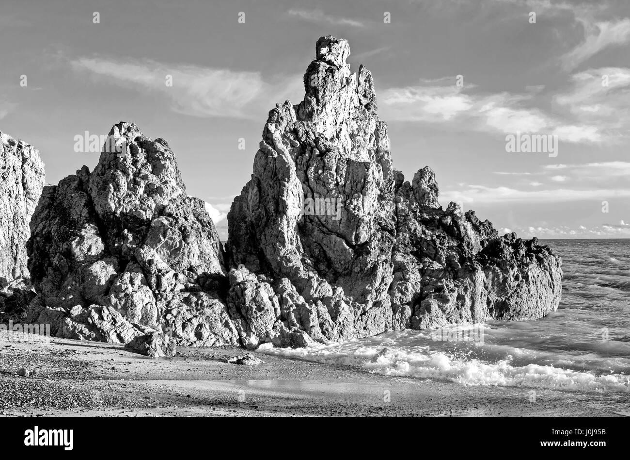 Howth peninsula, coastline,  Dublin, Ireland - Stock Image