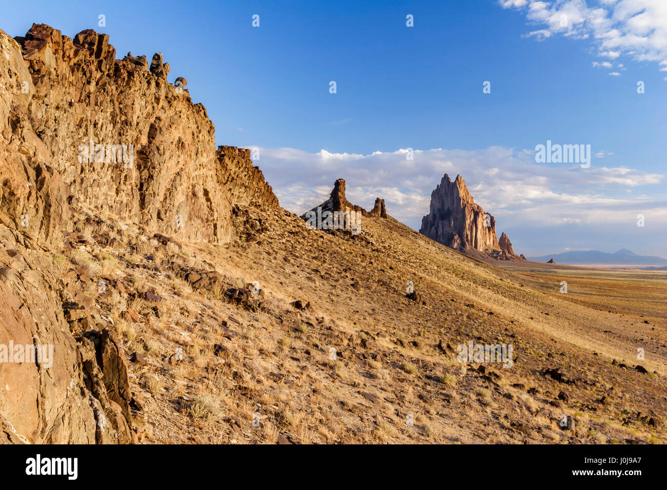 Colorado plateau new mexico stock photos colorado plateau new volcanic ridge and shiprock new mexico usa stock image publicscrutiny Images