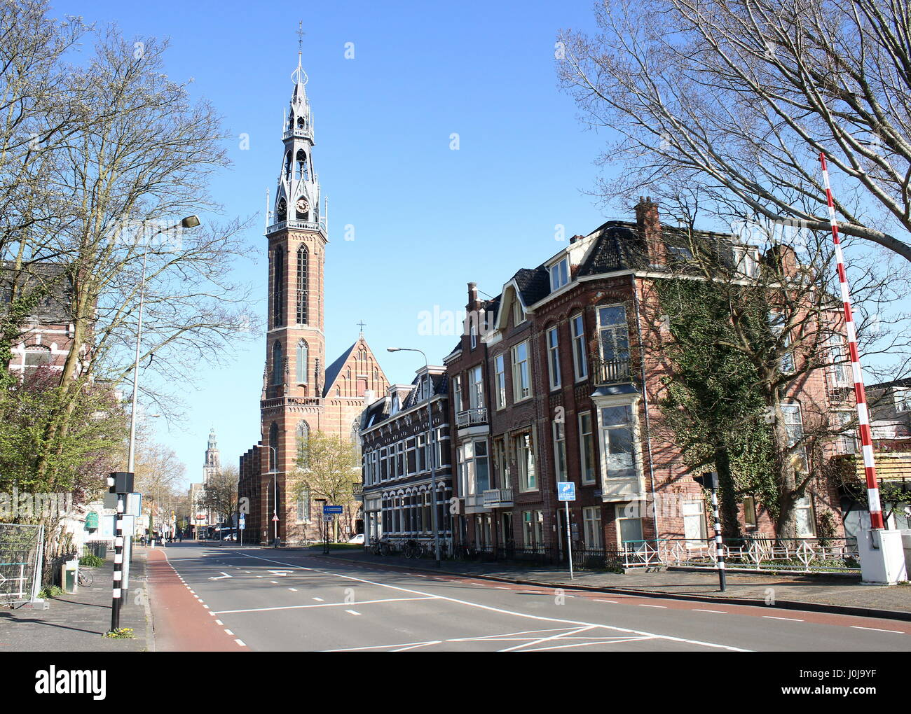St. Joseph Cathedral (Sint Jozef kathedraal), cathedral of the Roman Catholic Diocese of Groningen / Leeuwarden - Stock Image