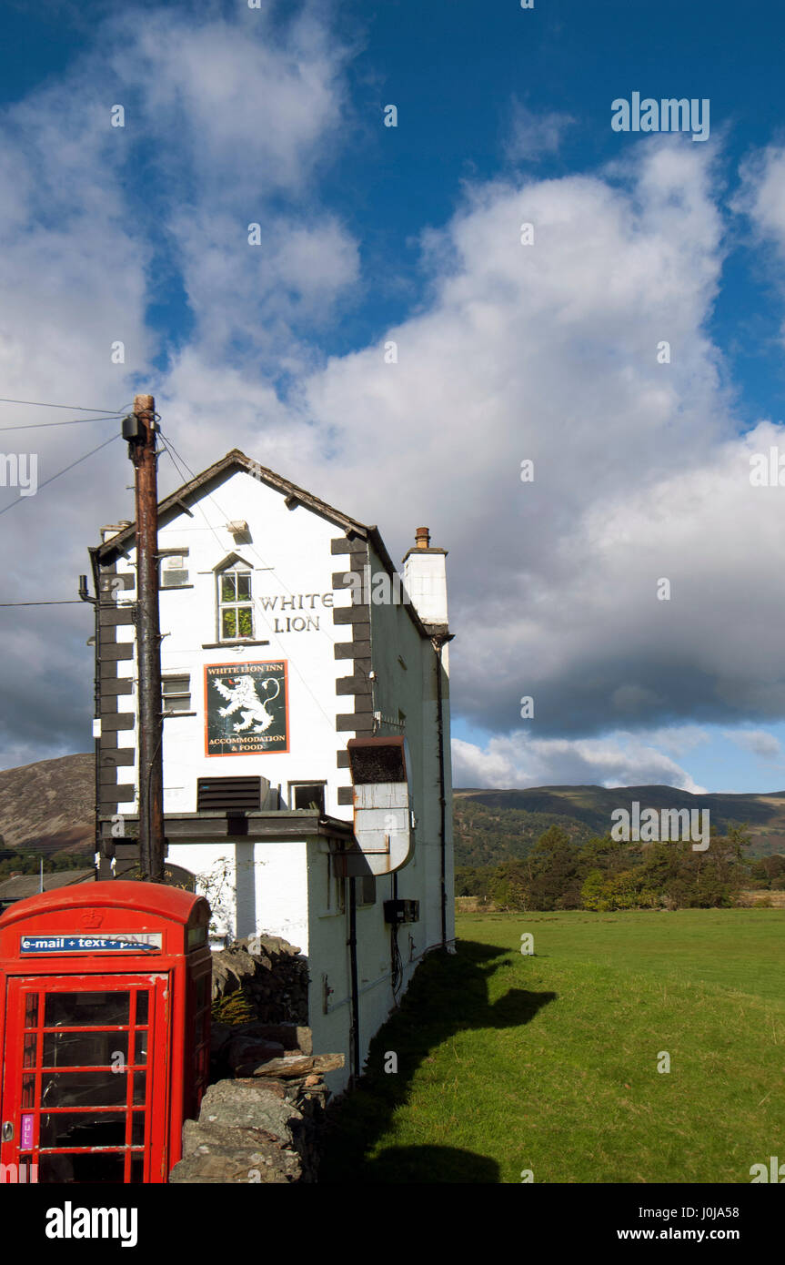 Cute Pub in Patterdale, the Lake District, Cumbria, England. - Stock Image