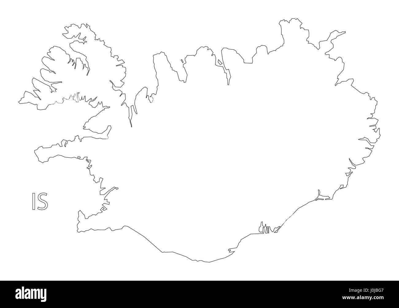 Image of: Iceland Outline Silhouette Map Illustration Stock Vector Image Art Alamy