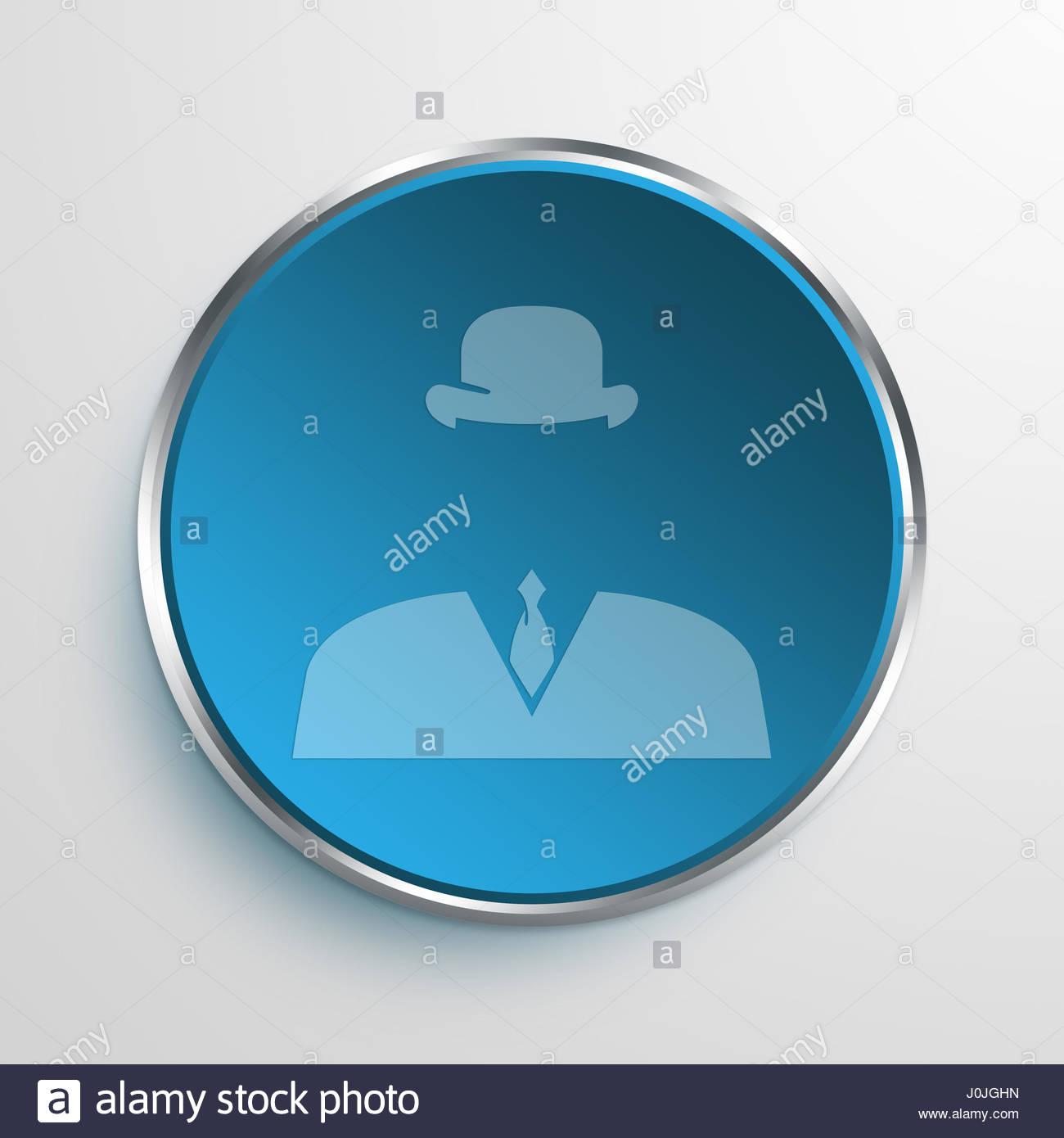 Blue Sign Invisible Symbol Icon Business Concept No554 Stock Photo