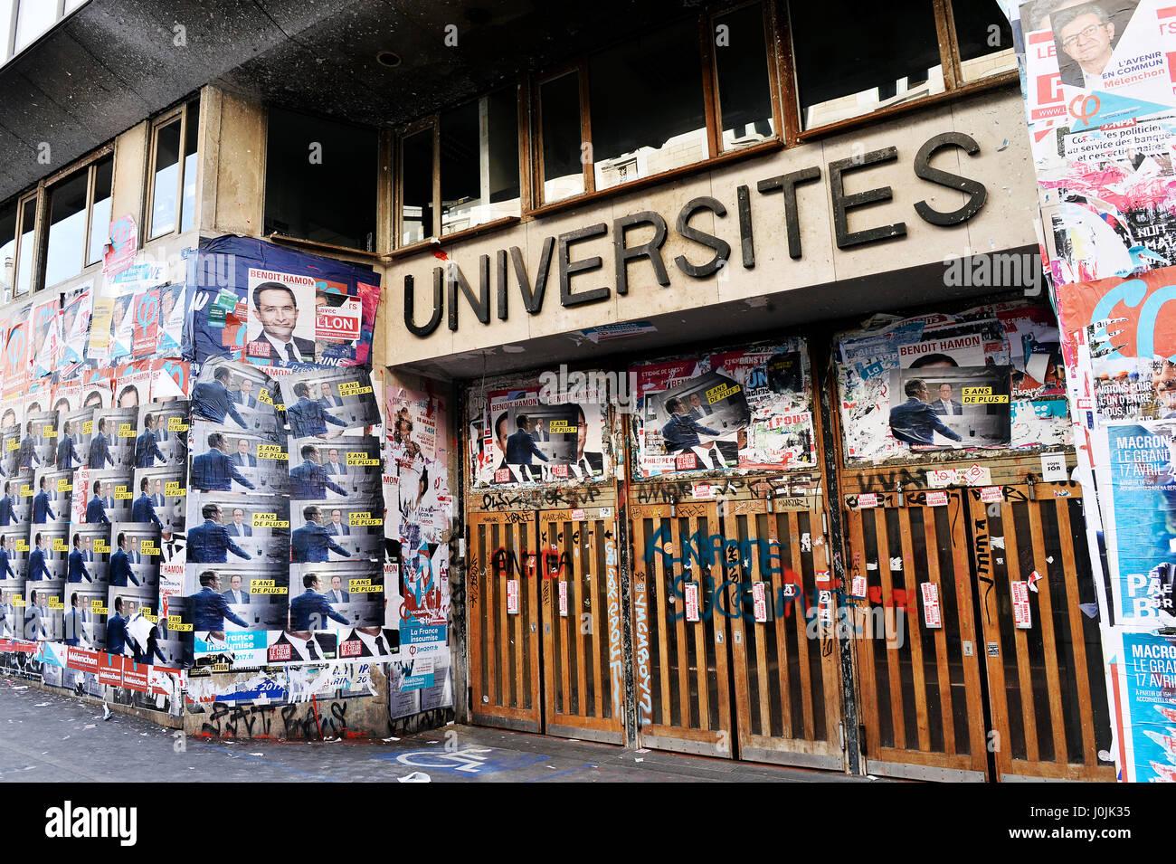 Panthéon university, Paris, France - Stock Image