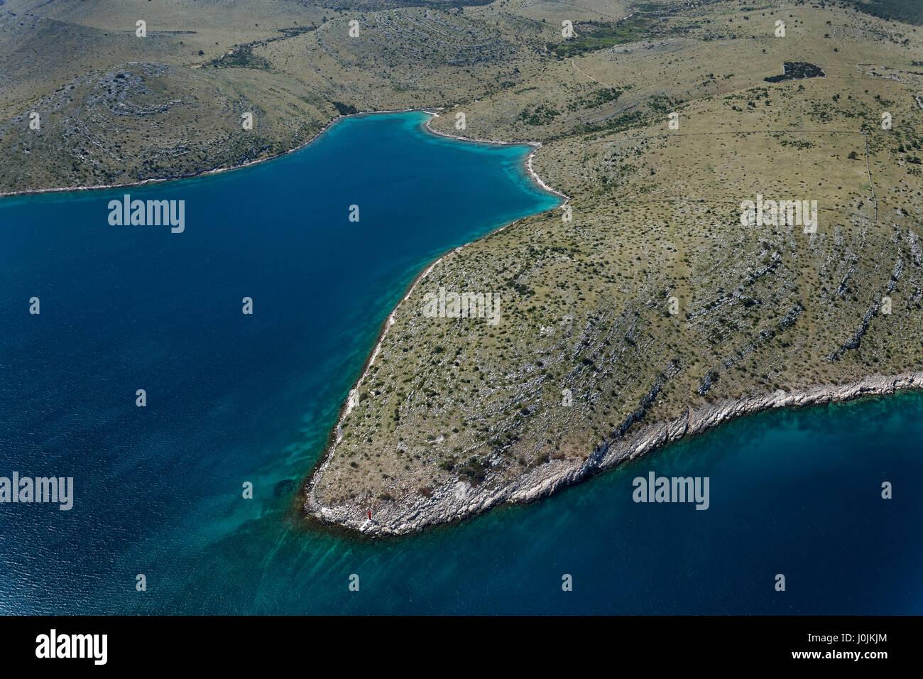 Aerial view of Telašćica Nature Park - Stock Image