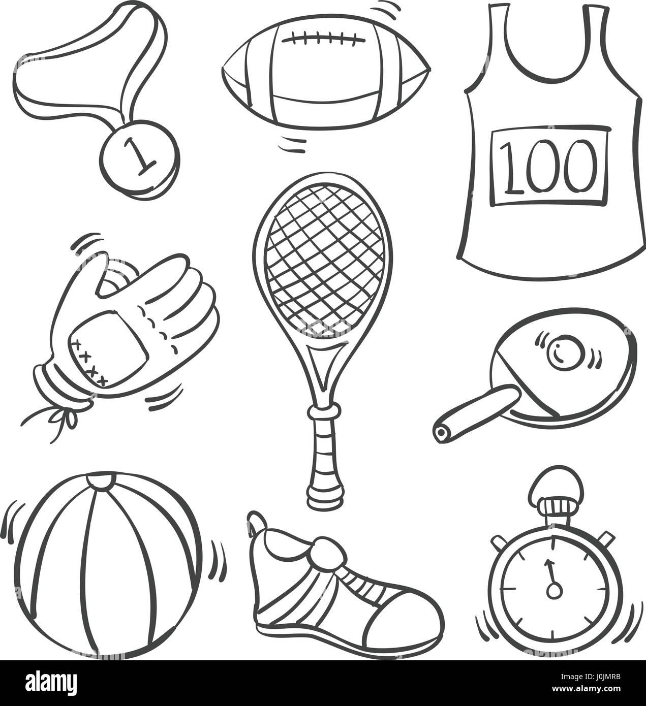 рисунок спортивные принадлежности карандашом известного бизнесмена собирает