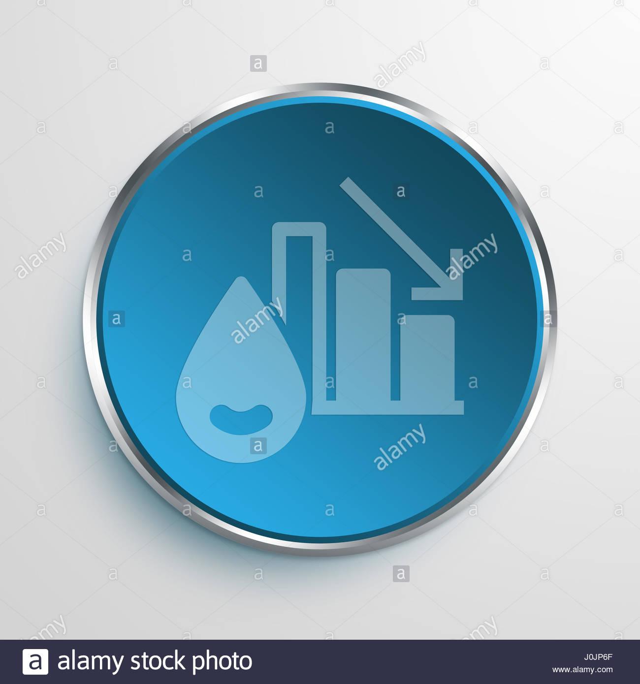 Blue Sign Oil Price Symbol Icon Business Concept No2140 Stock Photo
