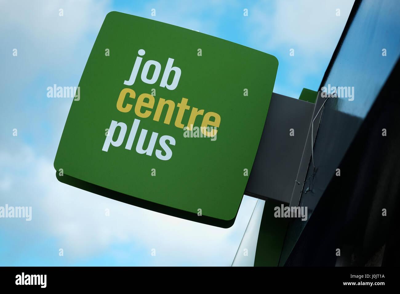 Job centre sign Stock Photo