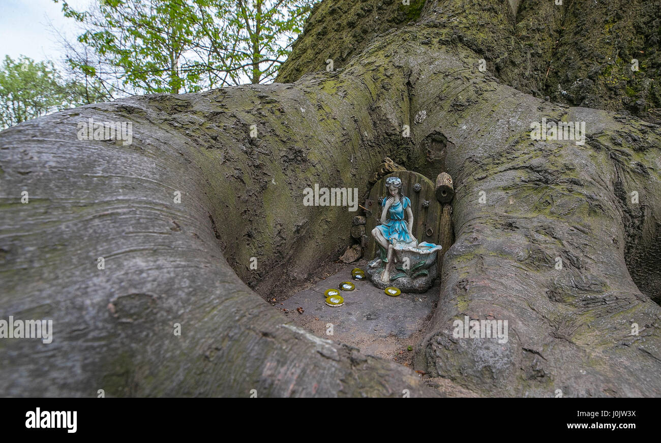 One of the fairy houses at Fairy World in Vale Park, New Brighton