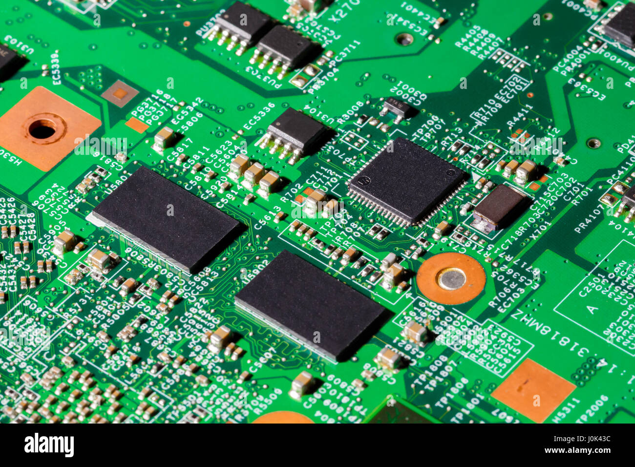 Close up shot of computer chips on a PCB Stock Photo: 138103264 - Alamy
