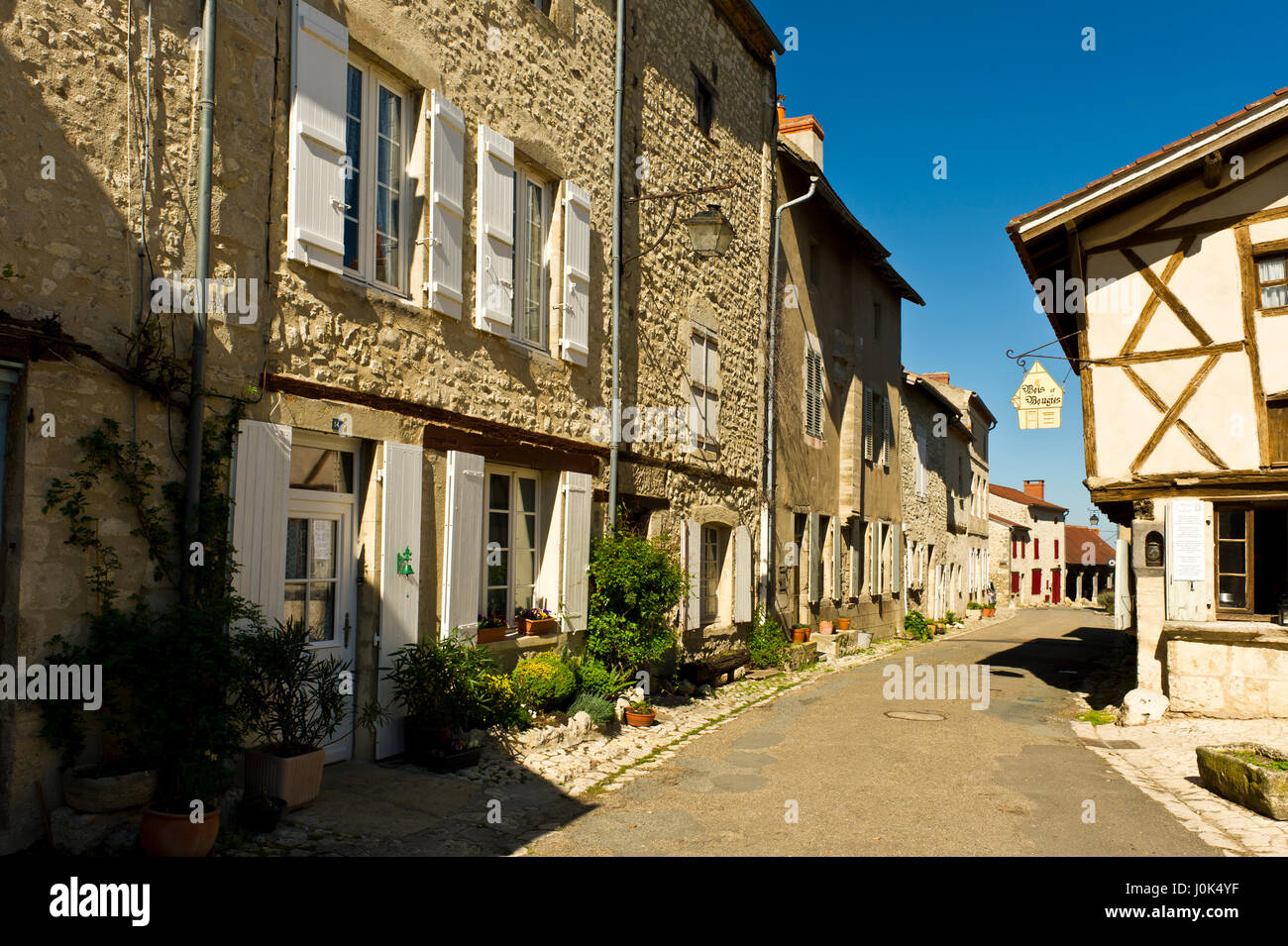 Old Buildings  Charroux  Allier  Auvergne  France Stock Photo  138103939