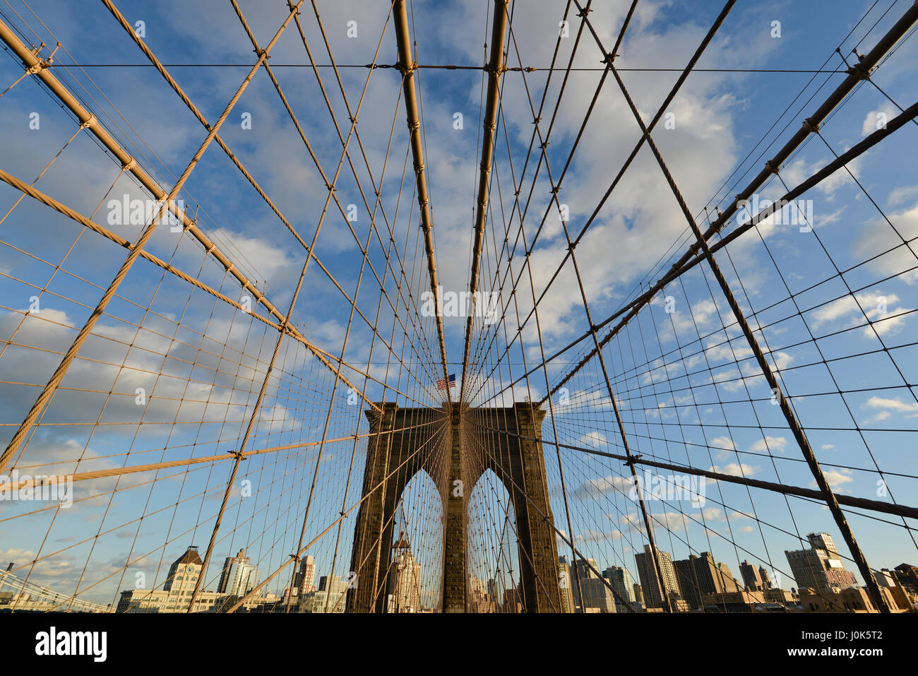 Brooklyn Bridge, New York, Usa - Stock Image