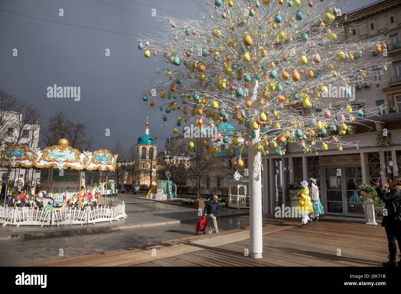 Decoration of tverskaya square during the easter gift festival in decoration of tverskaya square during the easter gift festival in center of moscow russia negle Image collections