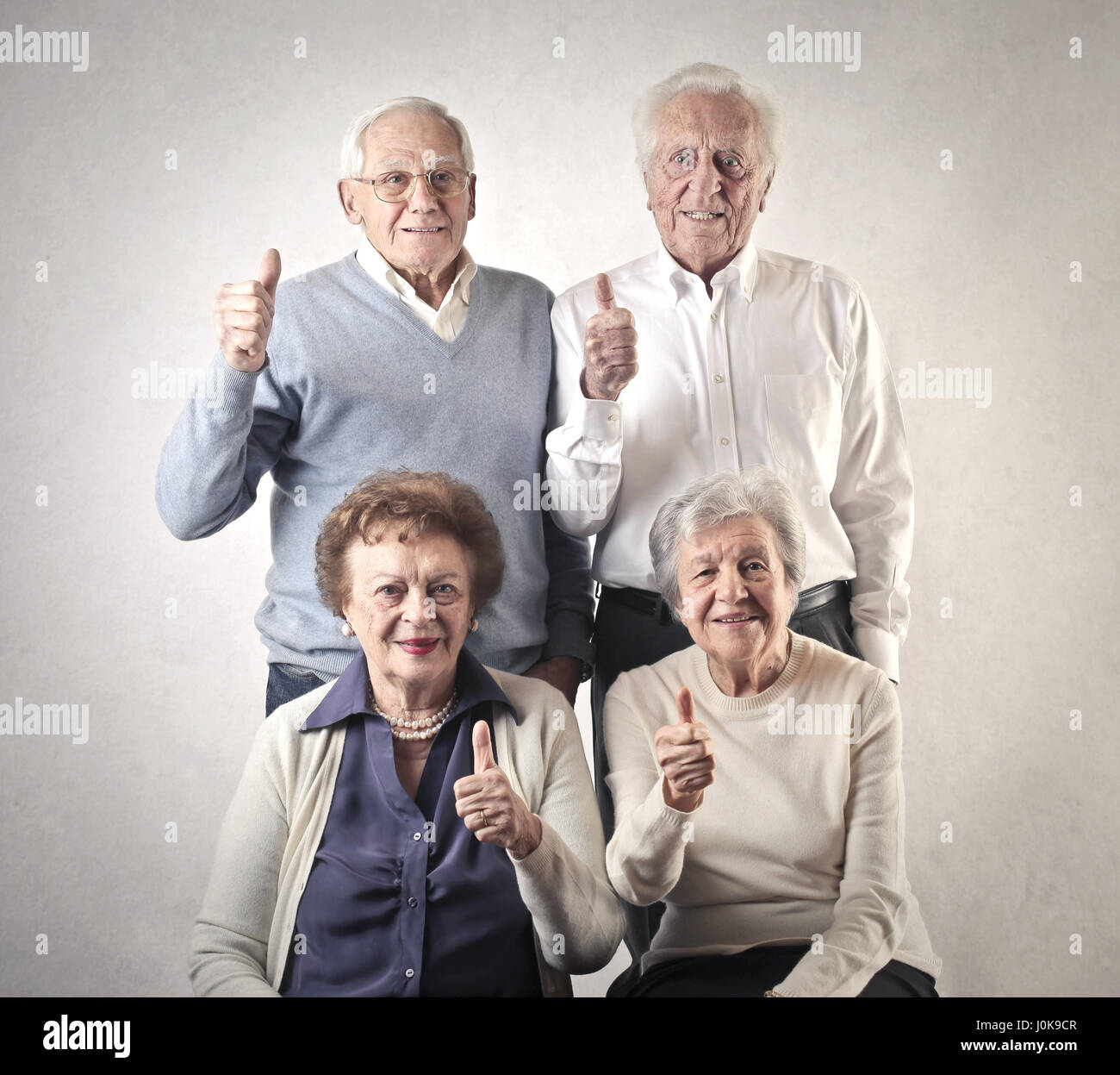 Group of old people supporting you Stock Photo