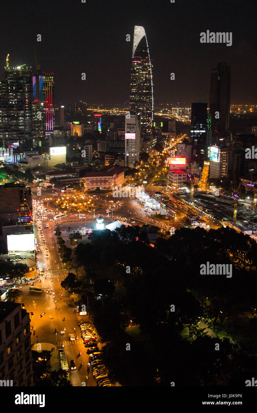 The views from a popular sky bar in Ho Chi Minh City - Stock Image