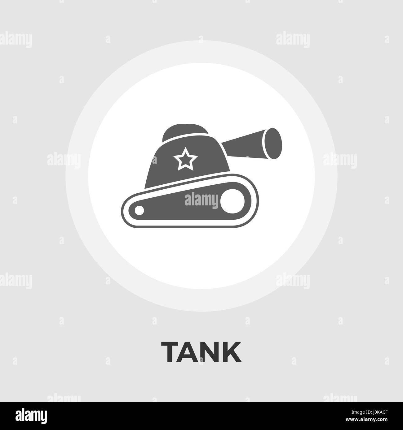 Tank toy vector flat icon - Stock Vector