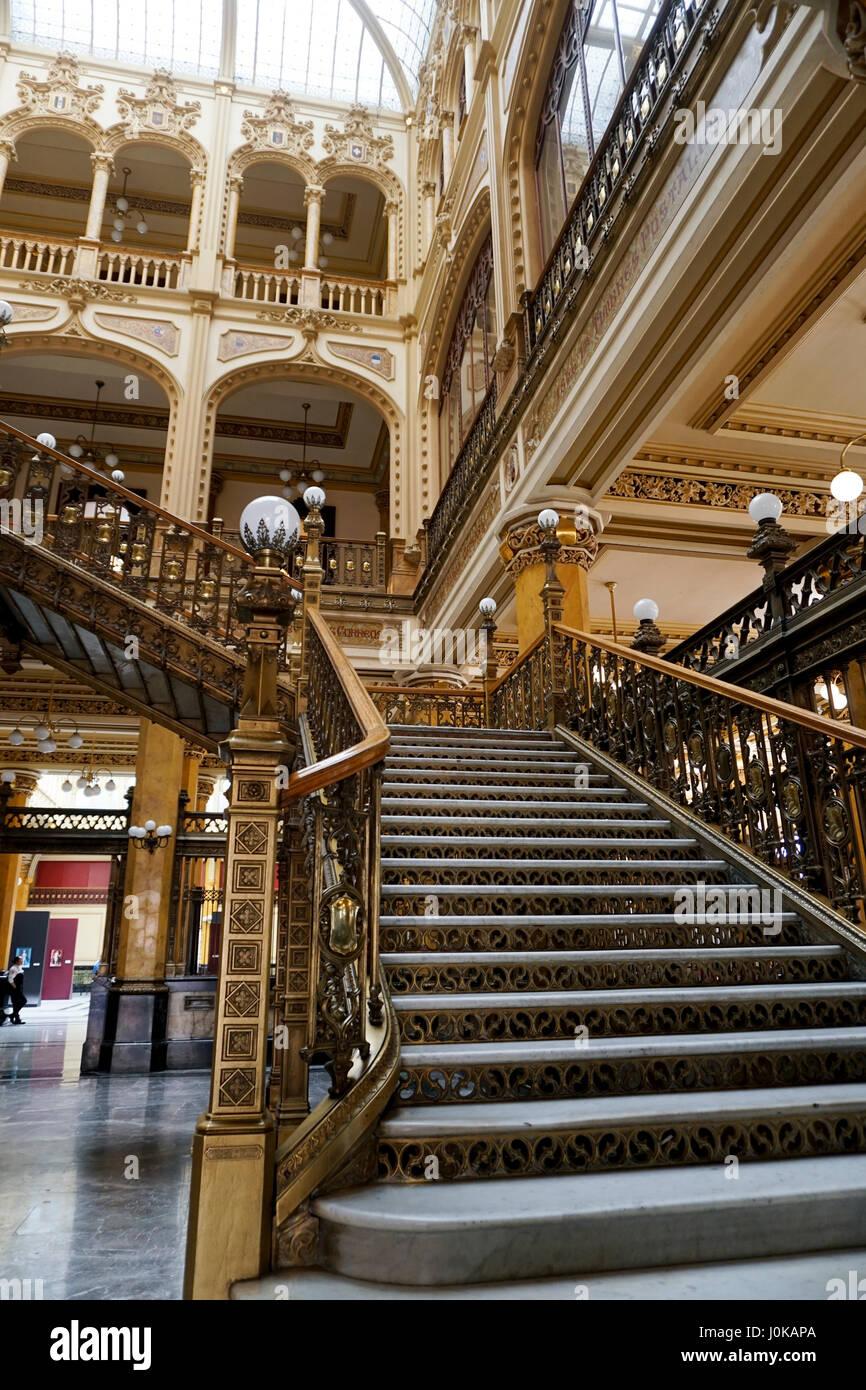 Historic Main Post Office in Mexico City, Mexico. The Palacio de Correos de Mexico or the (Correo Mayor) - Stock Image