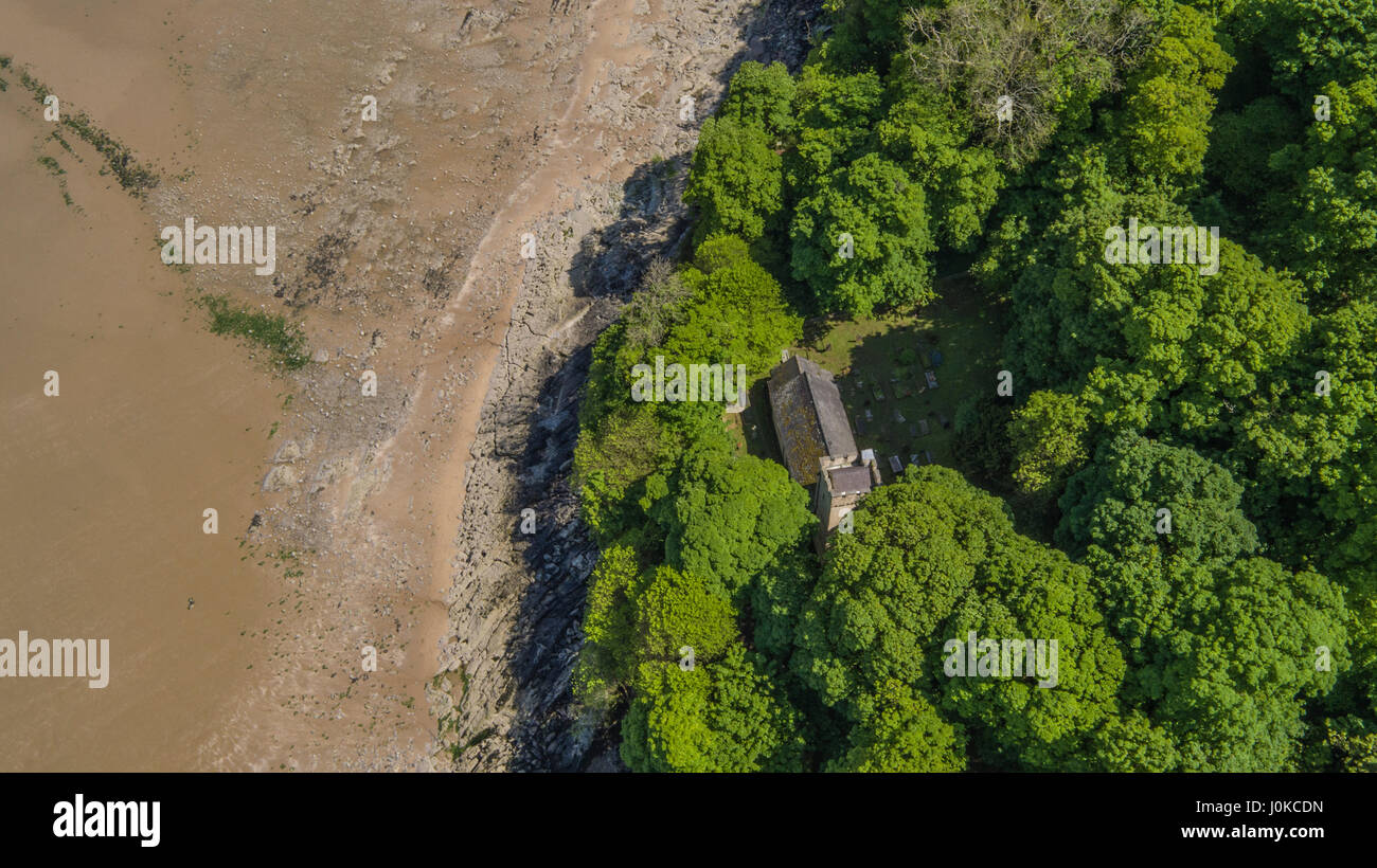 Aerial views of Oxwich Bay on the Gower Peninsular - Stock Image