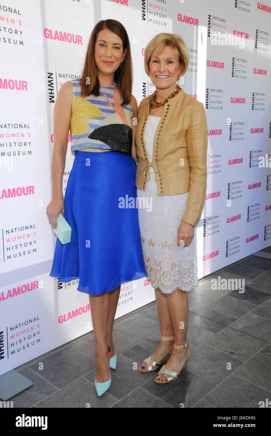 Kate Walsh and Joan Wages (r) attends the National Women's History Museum's 4th Annual 'Women Making - Stock Image