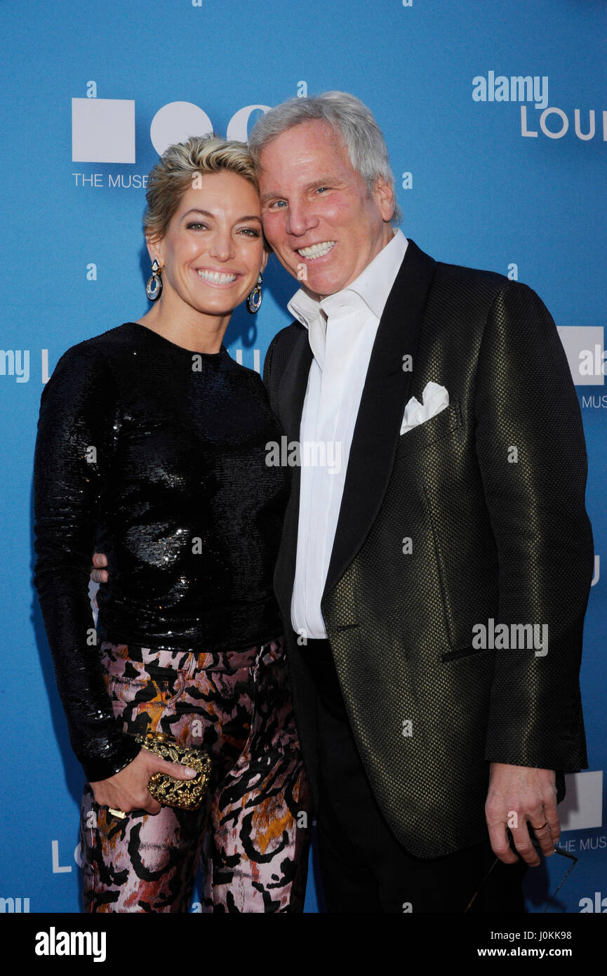 Kelly Kerrigan and Bob Kerrigan arrive at the 2015 MOCA Gala presented by Louis Vuitton at The Geffen Contemporary - Stock Image